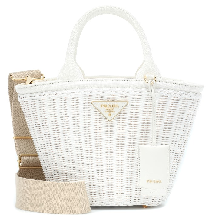Prada White Wicker Bag for Summer