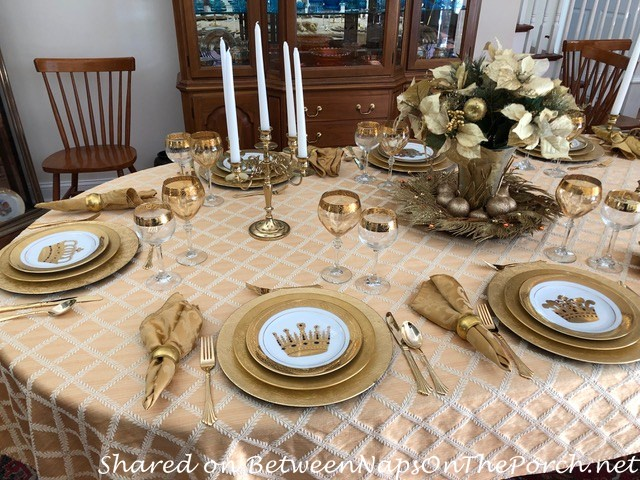 Tablescape in Gold, The Midas Touch