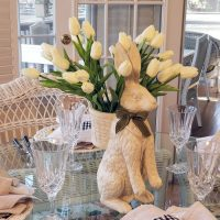 Tulip Centerpiece for a Spring or Easter Table Setting