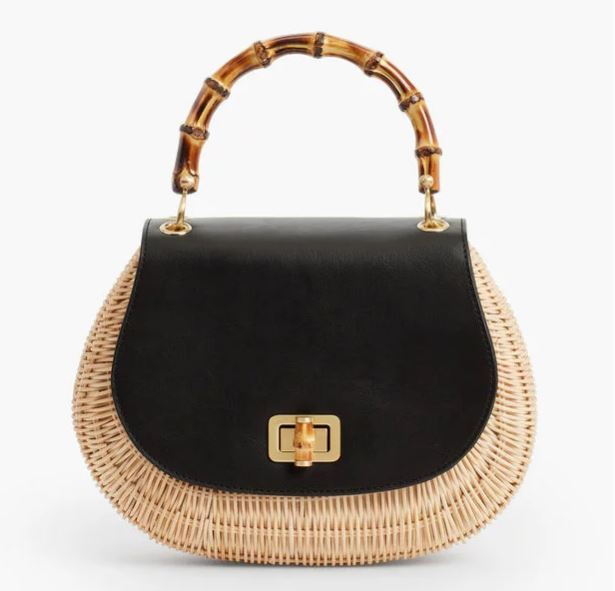 Wicker and Bamboo Bag for Summer
