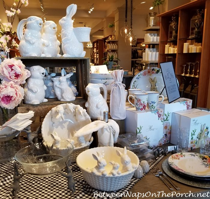 Bunny Dishes, Easter Dishware