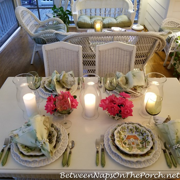 Candlelight Dining, Screened Porch
