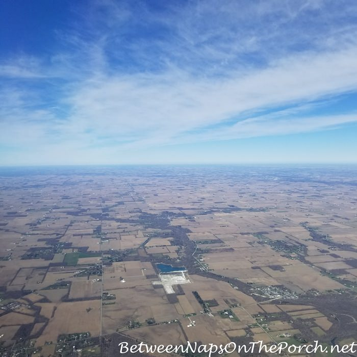 Dayton Airport Surrounding Area During Takeoff
