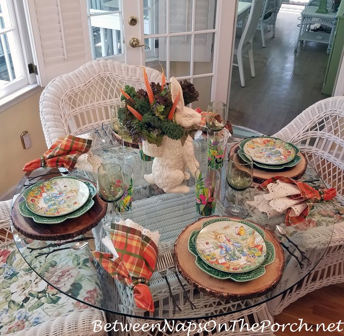 Peter Rabbit Tablescape with Peter Rabbit Salad Plates