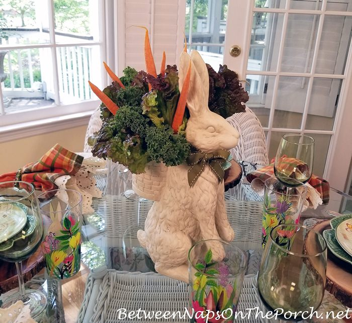 Peter Rabbit in the Garden Table Setting with Bunny Centerpiece
