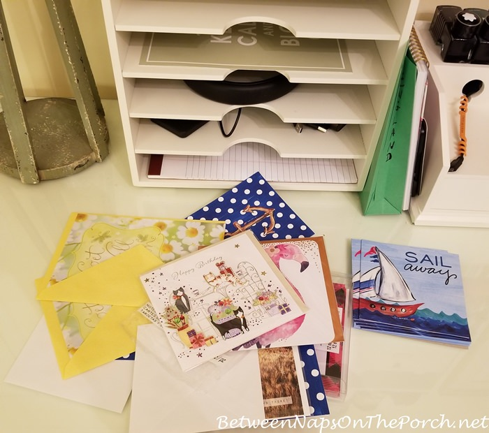 Pottery Barn Wrapping Paper Center with storage drawers