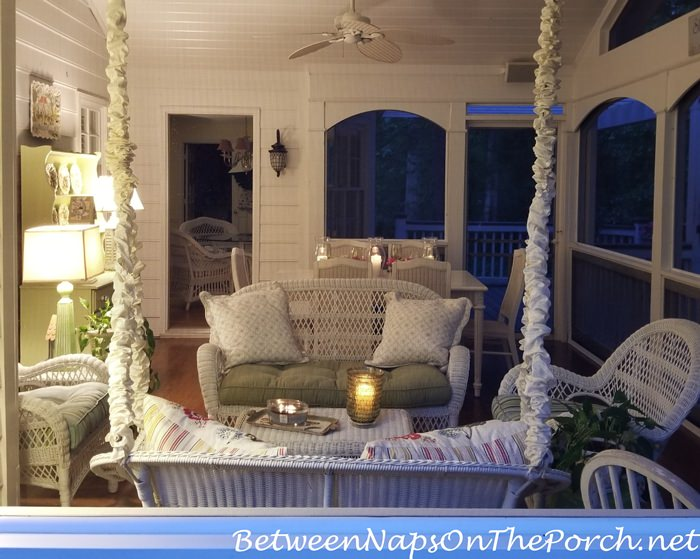 Screened Porch by Candlelight