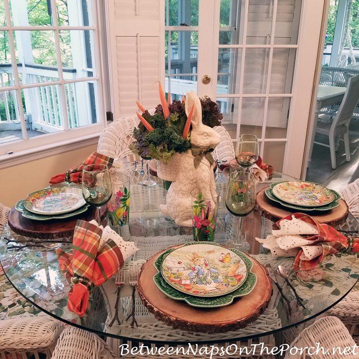 Spring Table, Peter Rabbit Theme