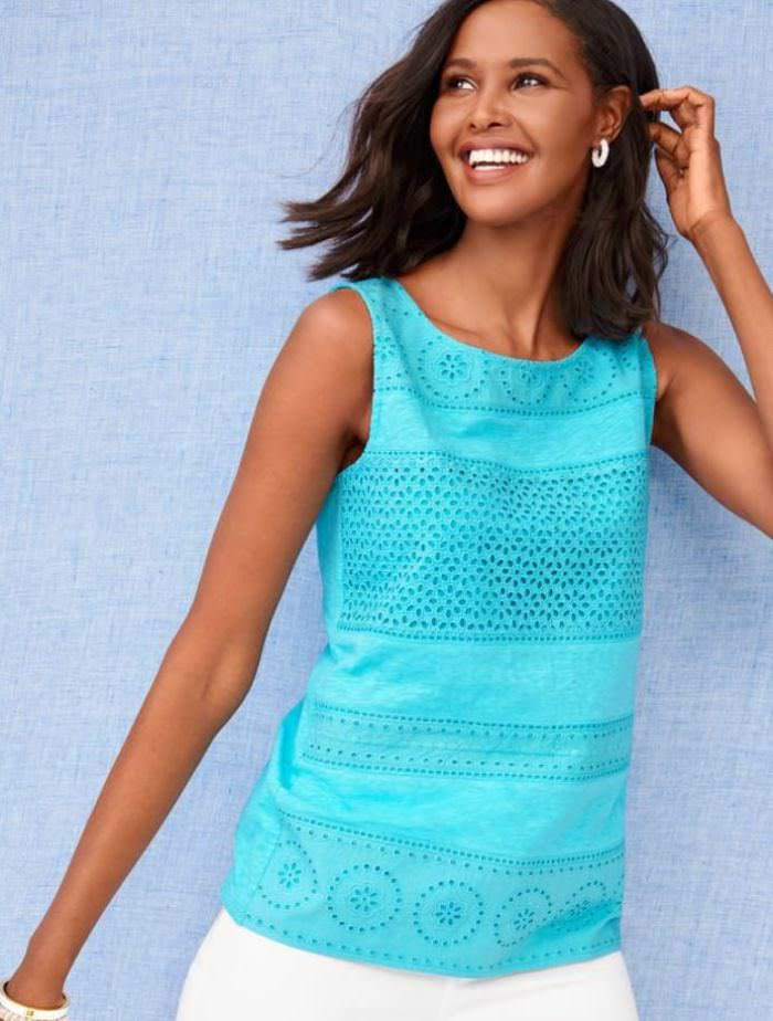 Blue Embroidered top for Summer