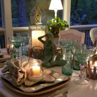 Candlelit Dinner on Porch, Beach Themed Dining