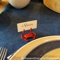 Crab Name Card Holders for Nautical Table Setting