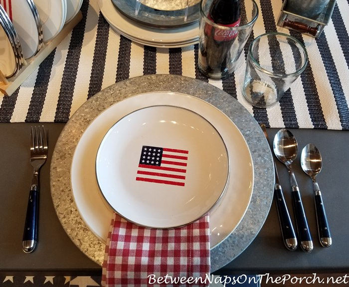 Flag Patriotic Salad Plates, Outdoor Entertaining