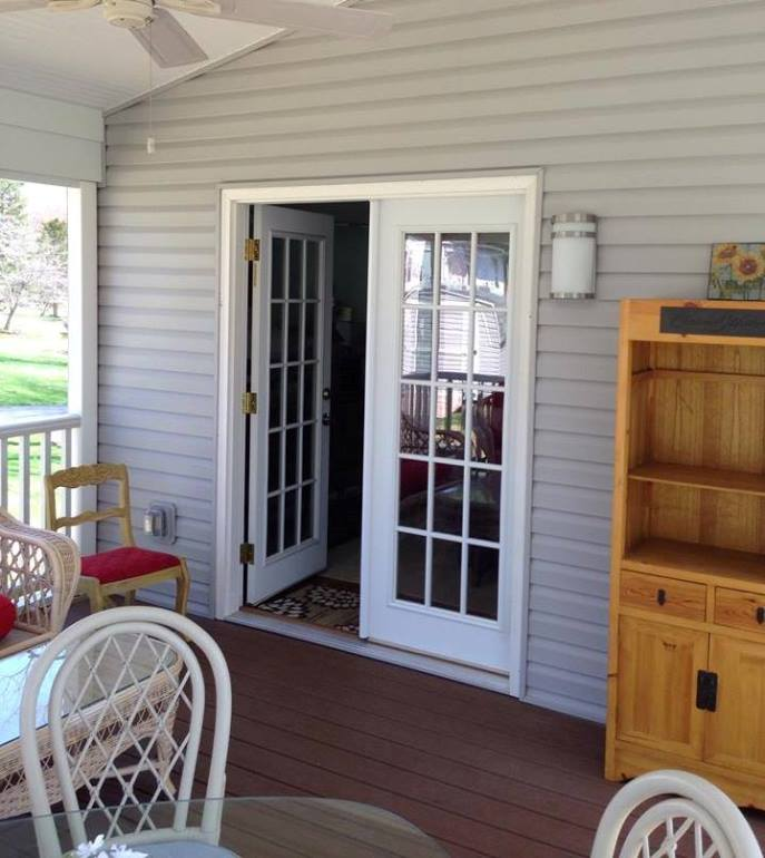 French Doors to Screened Porch