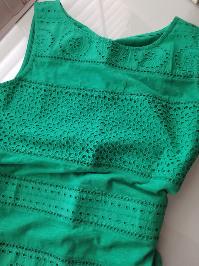 Green Embroidered Top on sale