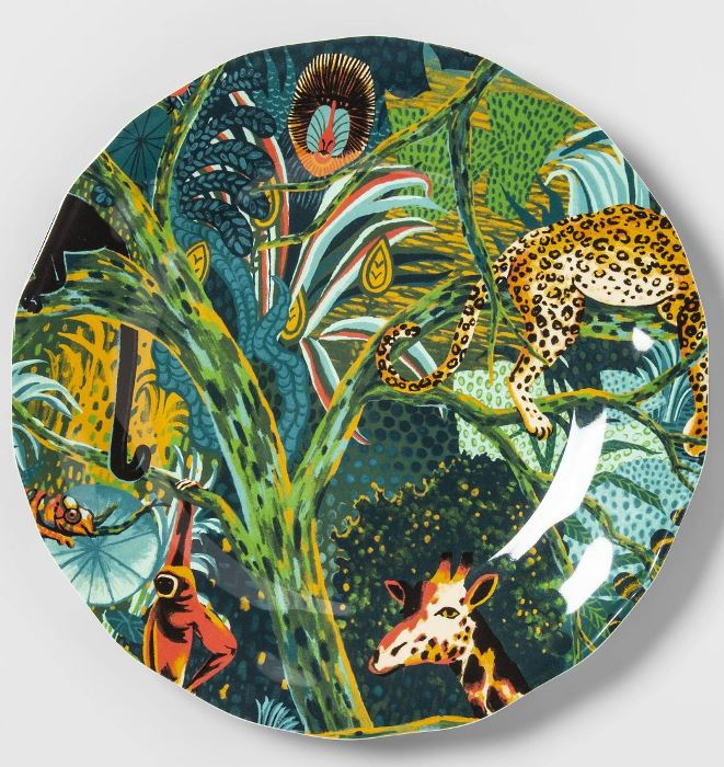 Jungle Theme Plates for Outdoor Dining