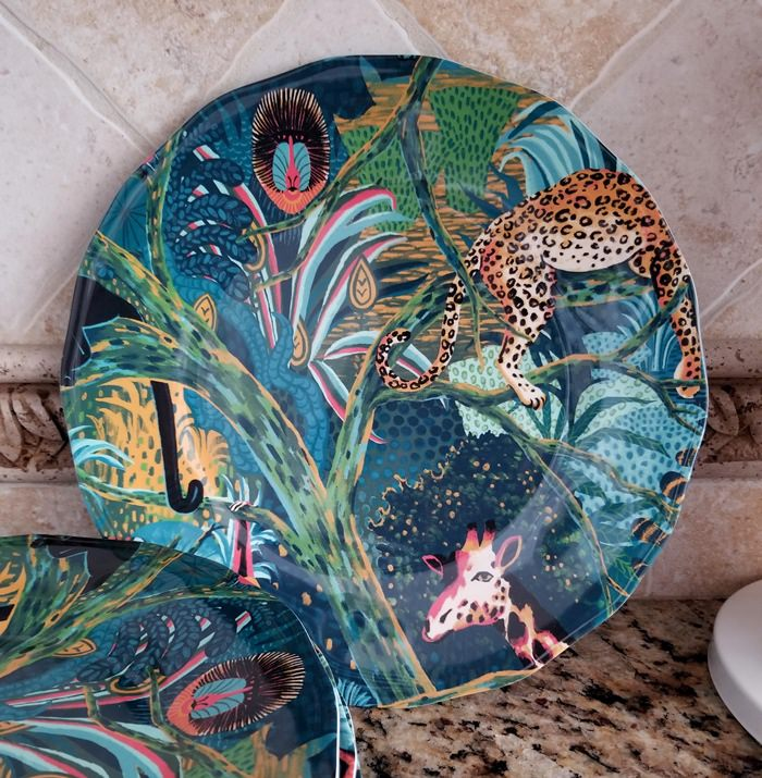 Jungle Plates for Outdoor Dining