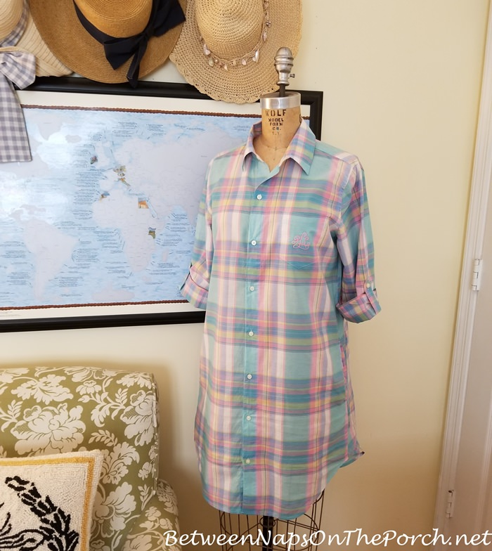 Lauren Ralph Lauren Madras Sleep Shirt