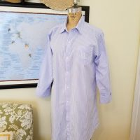 Lauren Ralph Lauren Sleep Shirt, Blue Striped