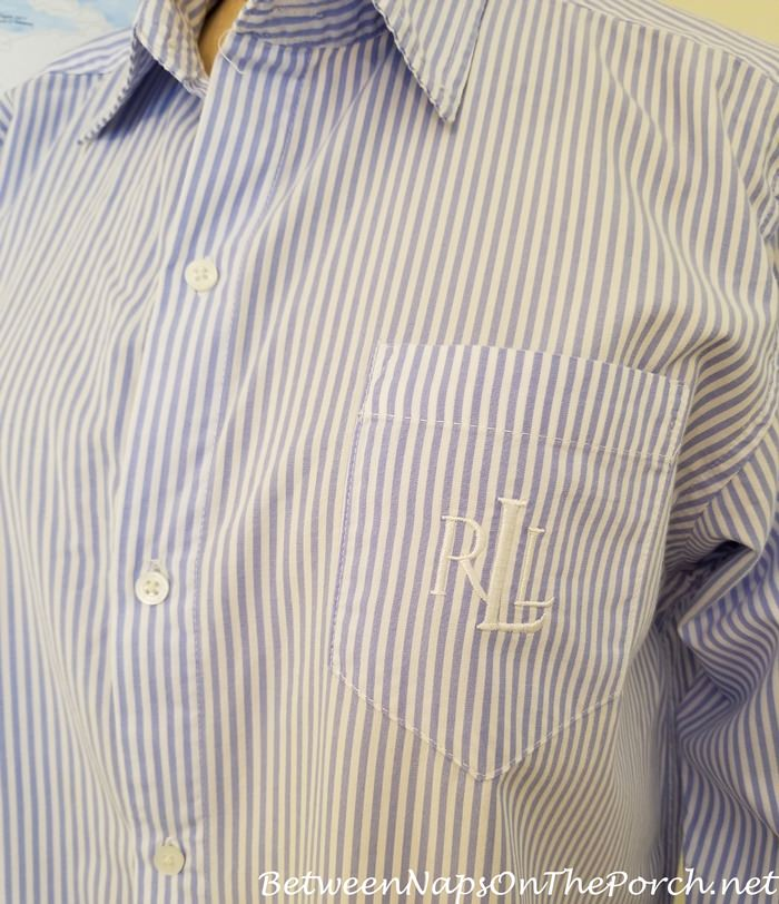 Lauren Ralph Lauren Sleep Shirts, Cotton Blue Striped