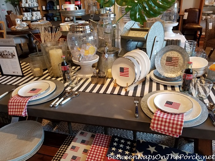 Patriotic Table, 4th of July, Memorial Day