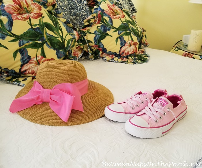 Pink Sneakers, Pink Sunhat