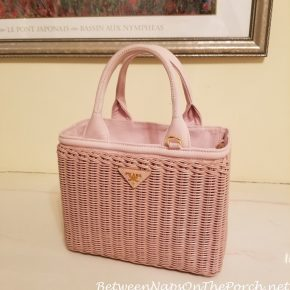 Prada Wicker Bag, Pink