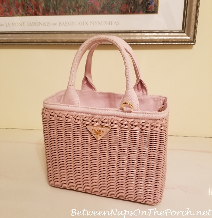 Prada Wicker Bag, Pink