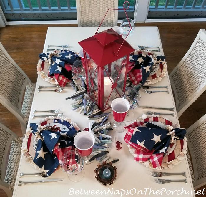 Red, White and Blue Table for Memorial Day