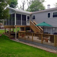 A Screened Porch Addition For Dining, Relaxing & Enjoying The Garden