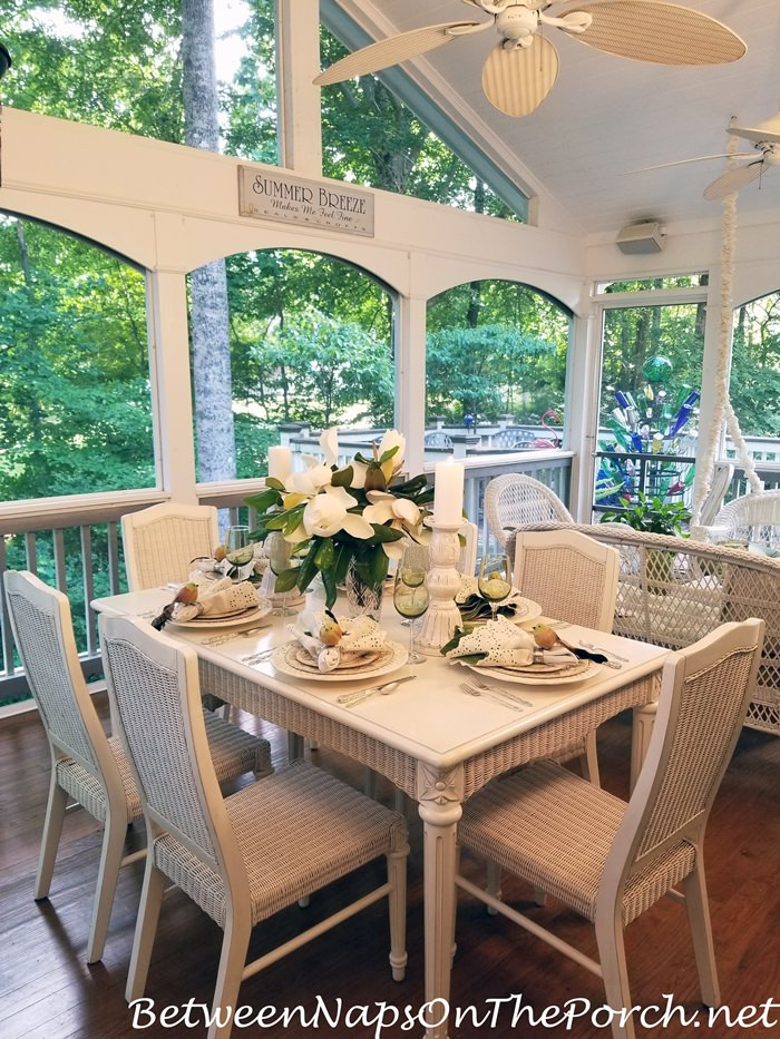 Screened Porch Spring Dinner