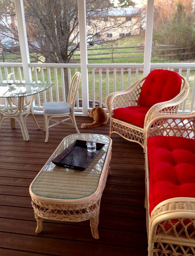 Vintage Rattan Furniture for Screened Porch