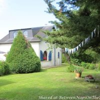 Beautiful French Cottage with Blue Shutters