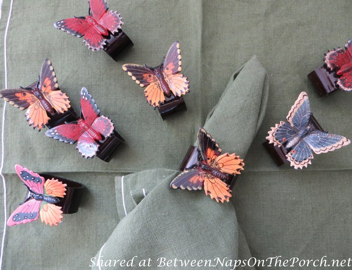 Butterfly Napkin Rings for a Woodland Outdoor Dinner
