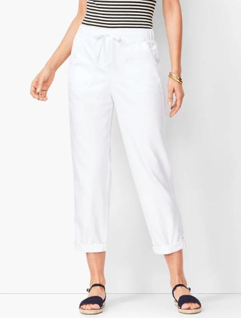 Drawstring Tie Summer Pants, Beach Wear