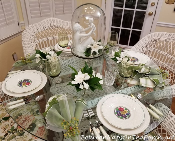 Gardenias in Spring Table, Wedgwood China