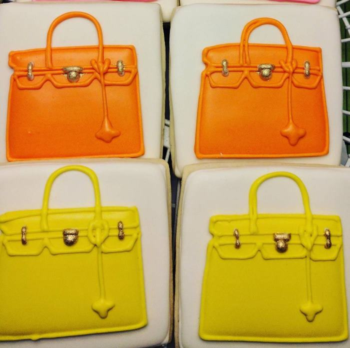 Hermes Birkin Bag Inspired Cookies