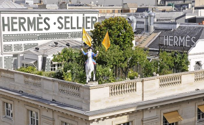 Hermes, Garden on the Roof at 24 Rue du Faubourg Saint Honore, Paris