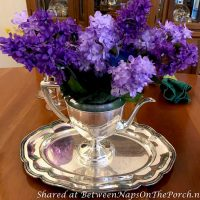 Lilac Floral Centerpiece for Dining