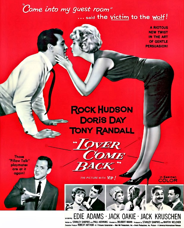 Lover Come Back Movie, Rock Hudson, Doris Day