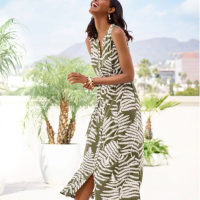 Maxi Dress, Fern Design