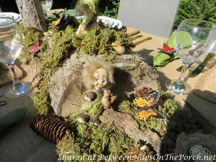 Natural Moss Centerpiece with Woodland Creatures