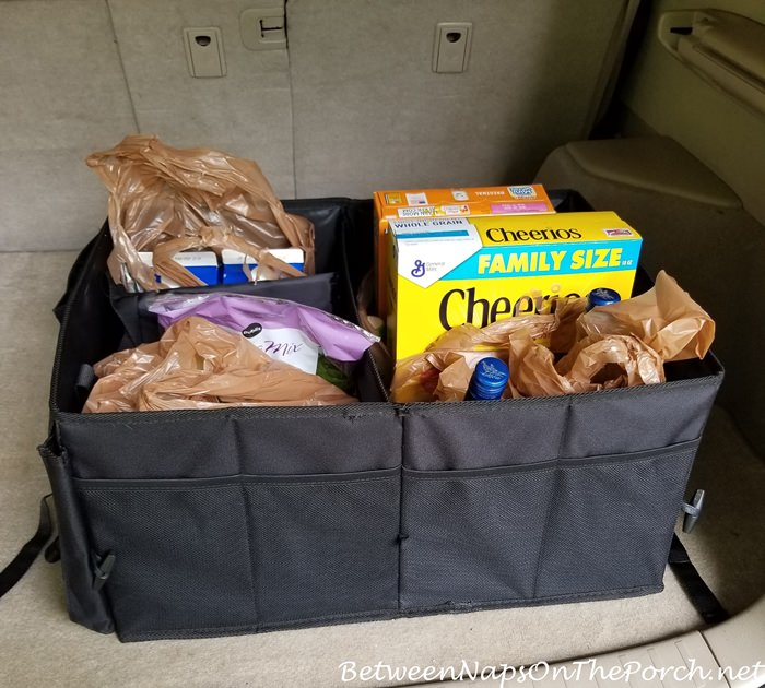 Organizer for SUV or Trunk, Holds Groceries and Other Items