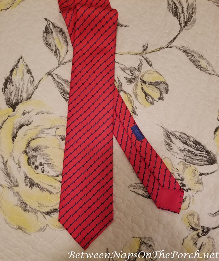 Silk Hermes Tie After Steaming