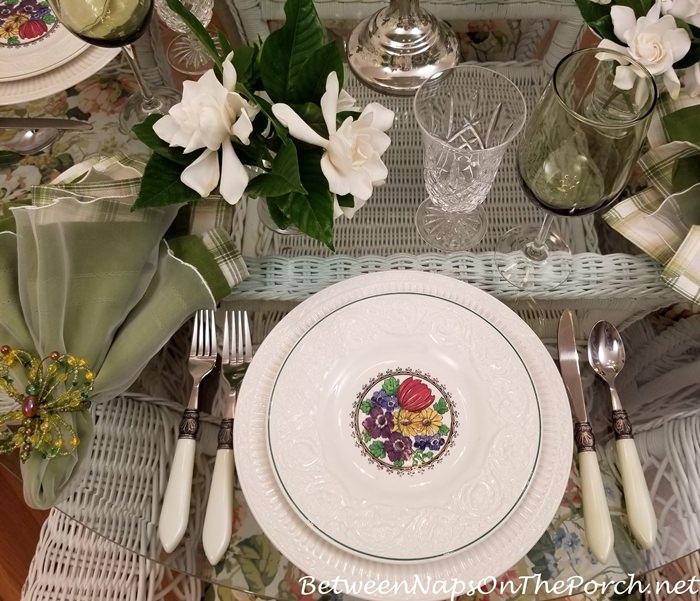 Wedgwood Floral Salad Plate, Etruria, England