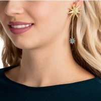 Beautiful Drop Sunburst Earrings