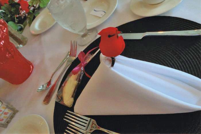 Bird-Themed Table Setting