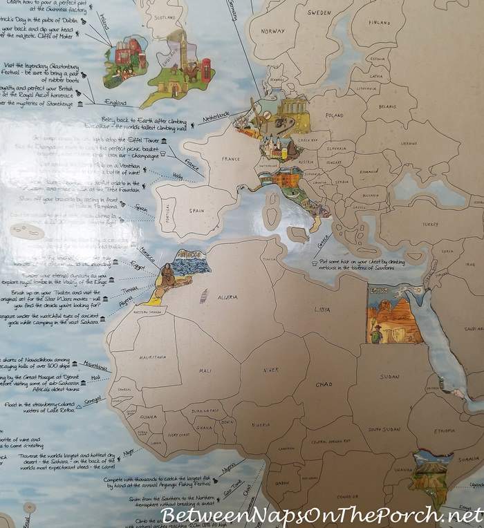 Bucket List Travel Map, Scratch Off the Places You've Traveled