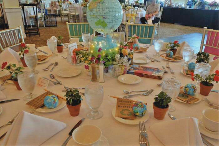 Earth Day Themed Table Setting