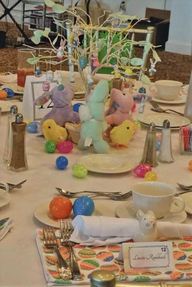 Easter Tablescape in Pastel Colors
