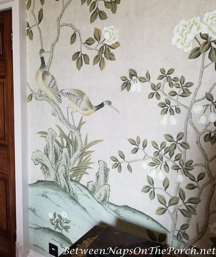 Hand Painted Wallpaper, Goodnestone Park House
